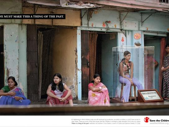Save the Children Print Ad -  Child prostitute