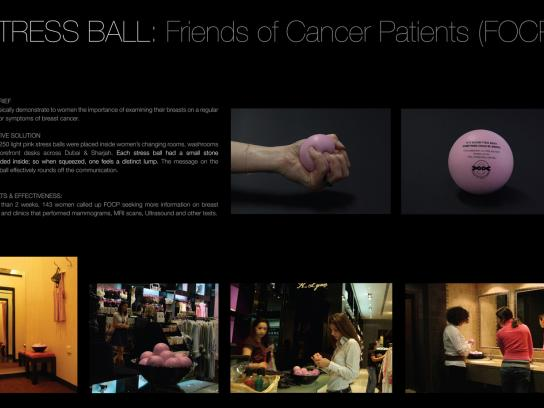 Friends of Cancer Patients Direct Ad -  Stress ball