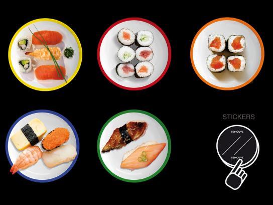 Zero Sushi Ambient Ad -  Sticker