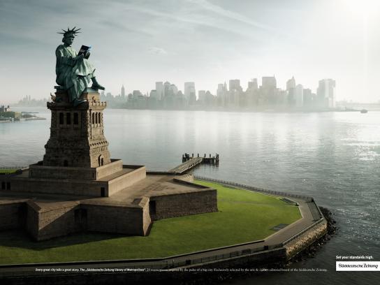 Süddeutsche Zeitung Print Ad -  New York