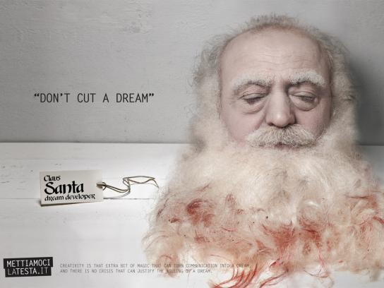 Mettiamocilatesta.it Print Ad -  Don't cut a dream