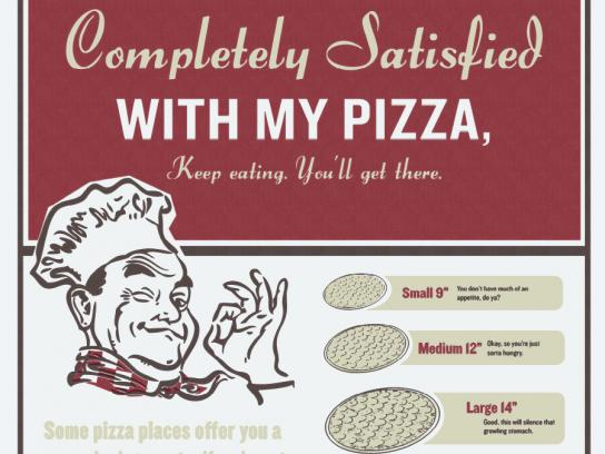 Butch's Pizza Print Ad -  Satisfied