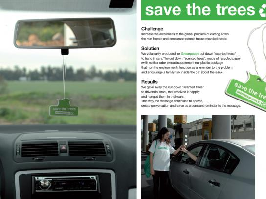 Greenpeace Ambient Ad -  Save the trees