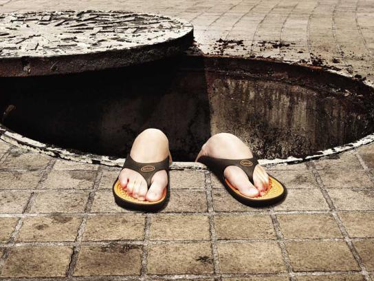 Scholl Print Ad -  Manhole