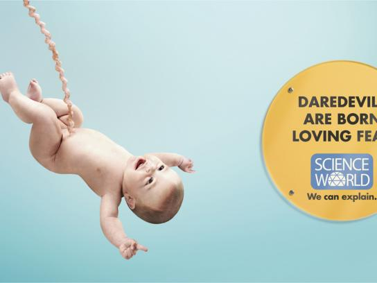 Science World Print Ad -  Bungee baby