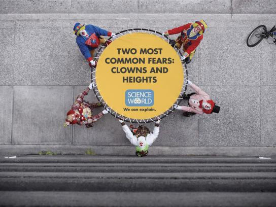 Science World Print Ad -  Clown jump