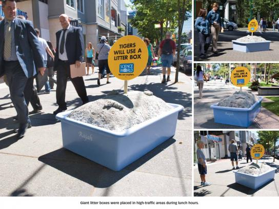 Science World Ambient Ad -  Tiger litter box