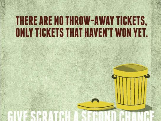 Washington Lottery Print Ad -  Throw-away