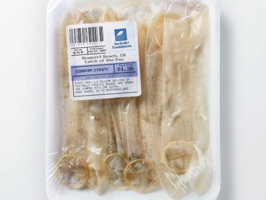 Surfrider Foundation Print Ad -  Farmer's Market, Condom strips