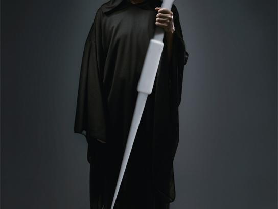 Dentist Walter Moretto Print Ad -  The grim reaper