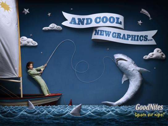 GoodNites Print Ad -  Shark