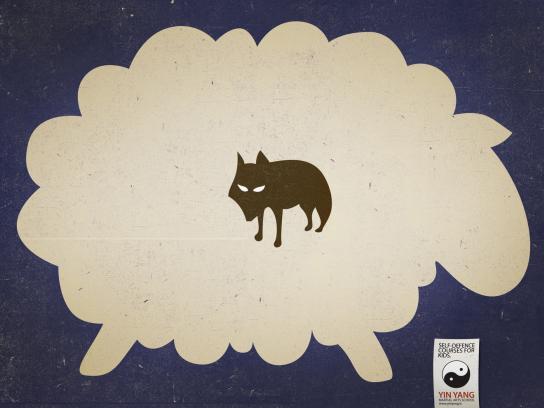 Yin Yang Martial Arts School Print Ad -  No bullies, Sheep