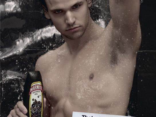 Marmite Print Ad -  Shower Gel