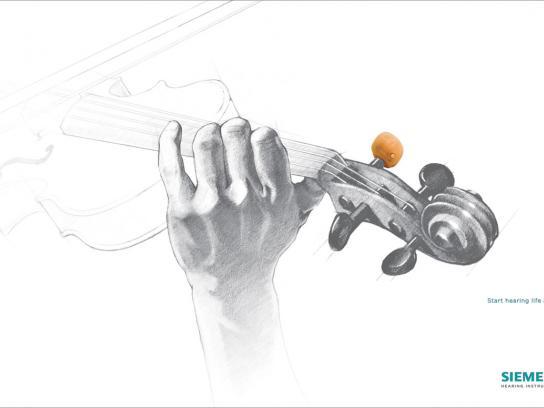 Siemens Print Ad -  Violin