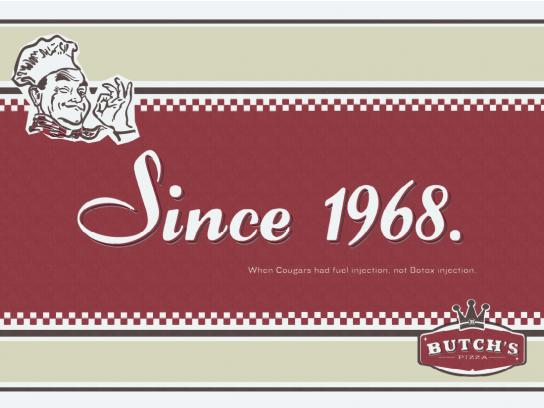 Butch's Pizza Print Ad -  Since 1968