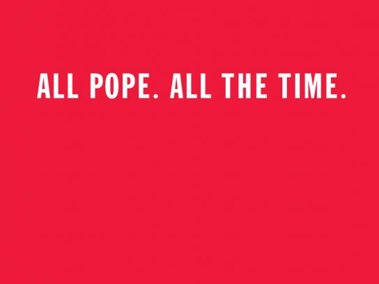 WatchThePope.com Print Ad -  All Pope