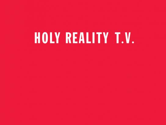 WatchThePope.com Print Ad -  Holy reality