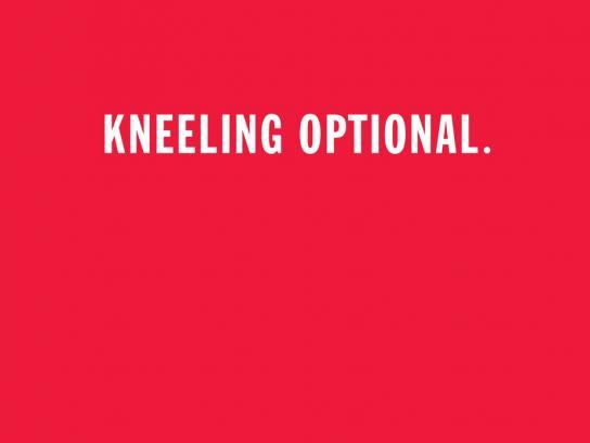 WatchThePope.com Print Ad -  Kneeling