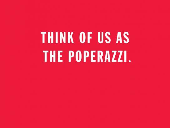 WatchThePope.com Print Ad -  Poperazzi