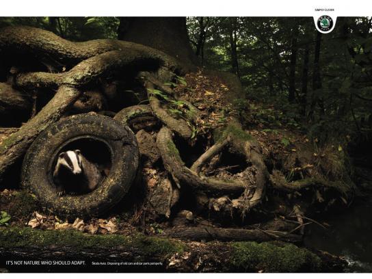 Skoda Print Ad -  Badger