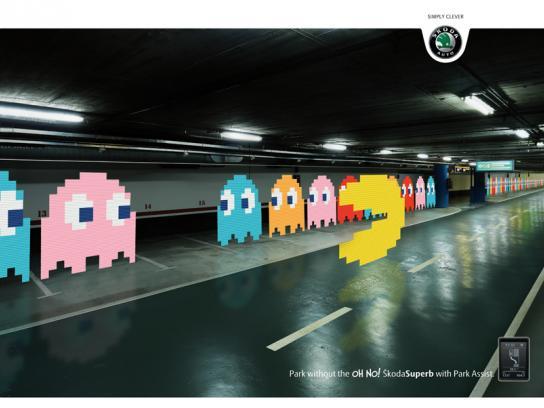 Skoda Print Ad -  Pacman