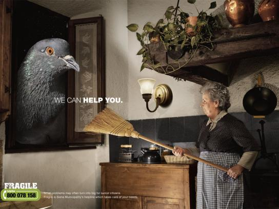 Fragile Print Ad -  We can help you, Bird