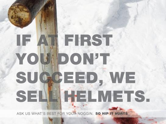 So Hip It Hurts Print Ad -  Helmets