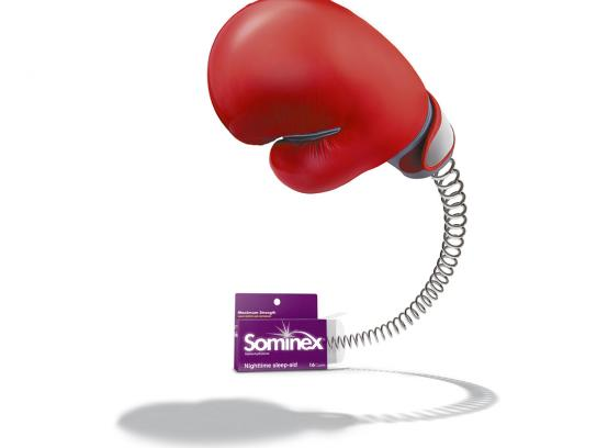 Sominex Print Ad -  Boxing glove