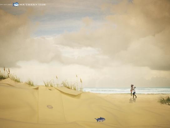 Southern Tide Print Ad -  Beach