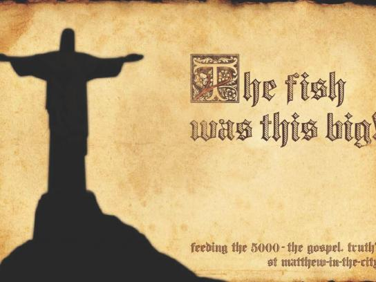 St Matthew-in-the-City Print Ad -  Fish