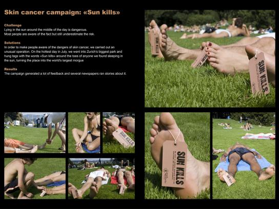 Stadt Apotheke Ambient Ad -  Skin Cancer Guerilla