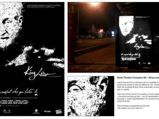 State Theatre Company Outdoor Ad - State Theatre South Australia, King Lear