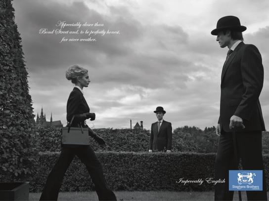 Stephens Brothers Print Ad -  Impeccably English, 1