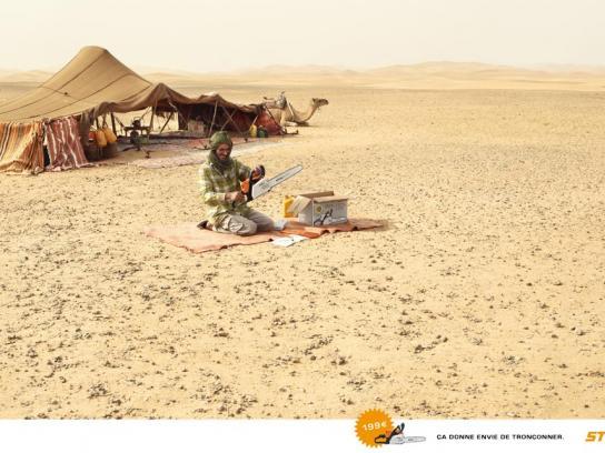 Stihl Print Ad -  Beduin