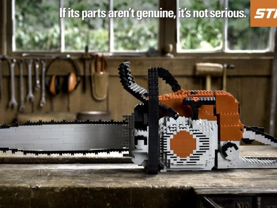 Stihl Print Ad -  Lego Chainsaw