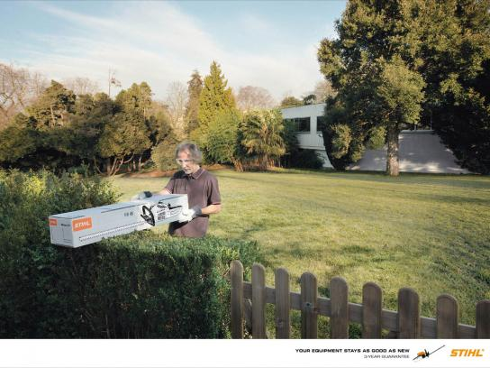 Stihl Print Ad -  As good as new, Hedge Trimmer
