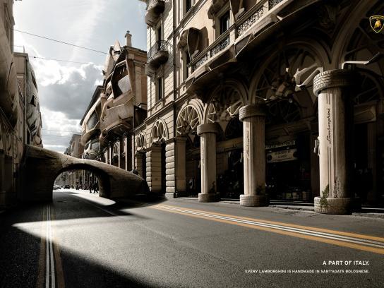 Lamborghini Print Ad -  Street