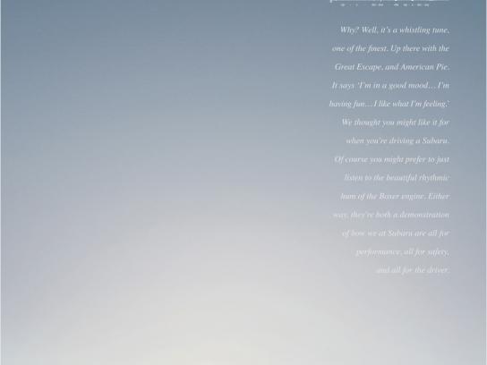 Subaru Print Ad -  All 4 the Feeling