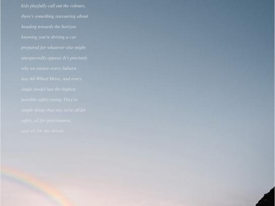 Subaru Print Ad -  All 4 the Rainbow