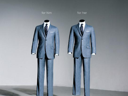 Suit Supply Print Ad -  For Him / For Her