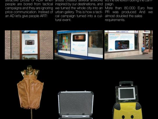 KLM Print Ad -  Suitcase Art Project