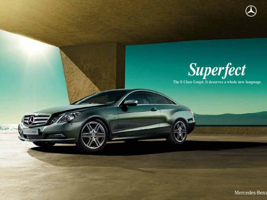 Mercedes Print Ad -  Superfect