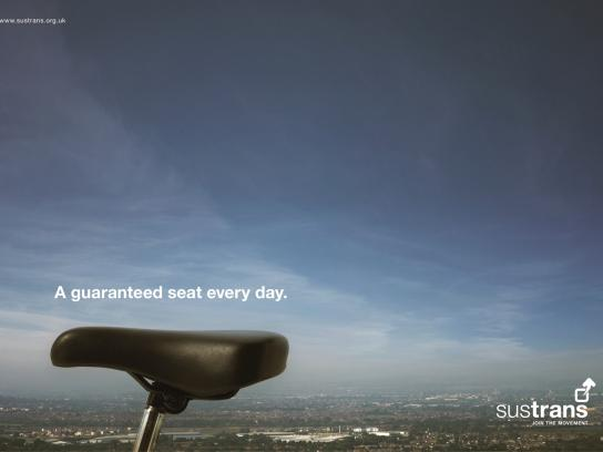 Sustrans Print Ad -  A guaranteed seat every day