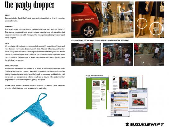 Suzuki Ambient Ad -  The panty dropper