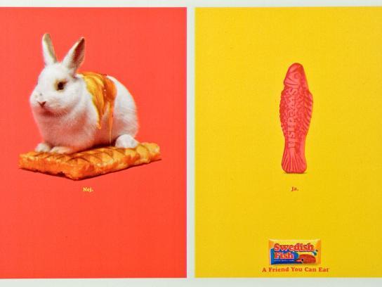 Swedish Fish Print Ad -  Bunny waffle