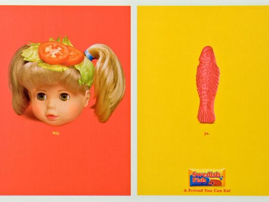 Swedish Fish Print Ad -  Doll burger
