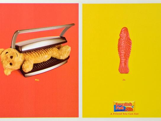 Swedish Fish Print Ad -  Grilled Teddy
