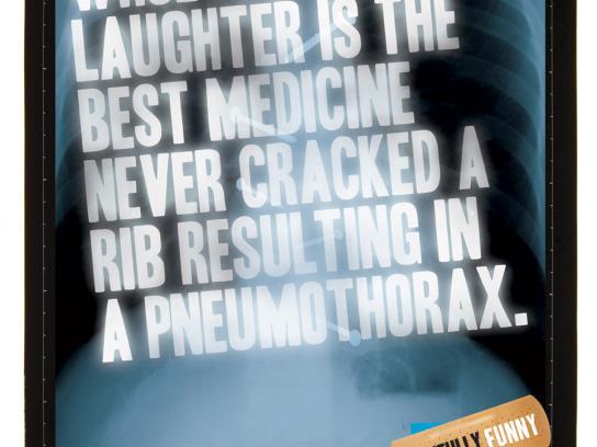 Sydney Comedy Festival Print Ad -  Medicine