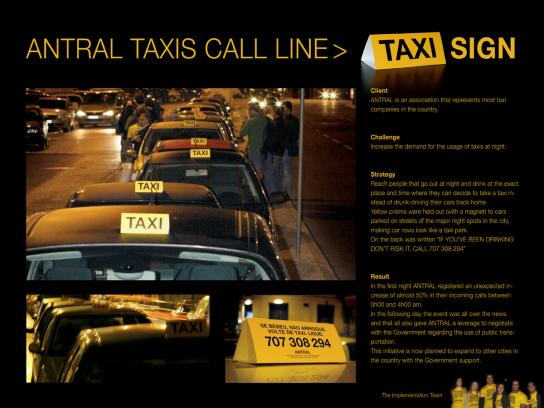 Don't Drink & Drive Ambient Ad -  Taxi