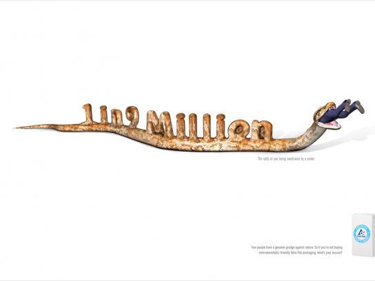 Tetra Pak Print Ad -  Snake